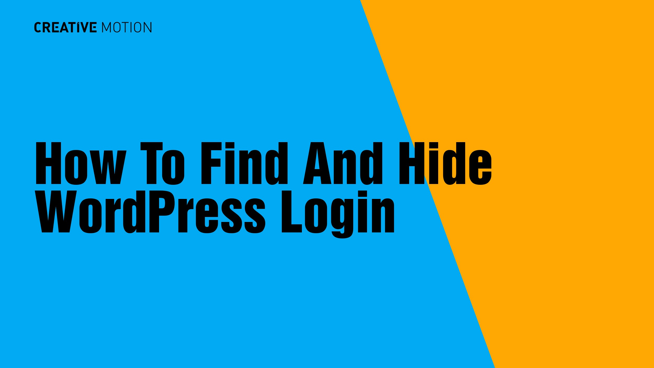 How To Find And Hide WordPress Login