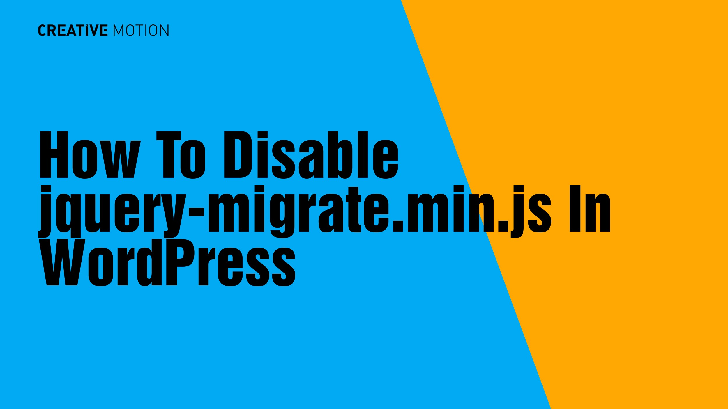 How To Disable jquery-migrate.min.js In WordPress